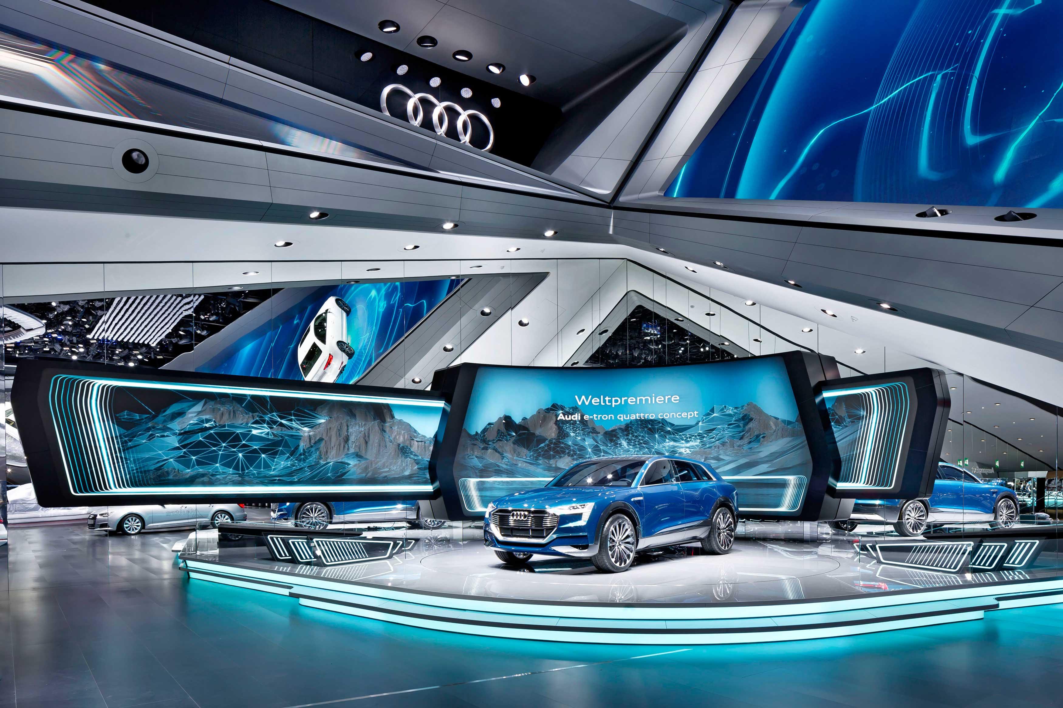 Showlichtgestaltung Und Lichtsetzende Kamera Audi Iaa 2015
